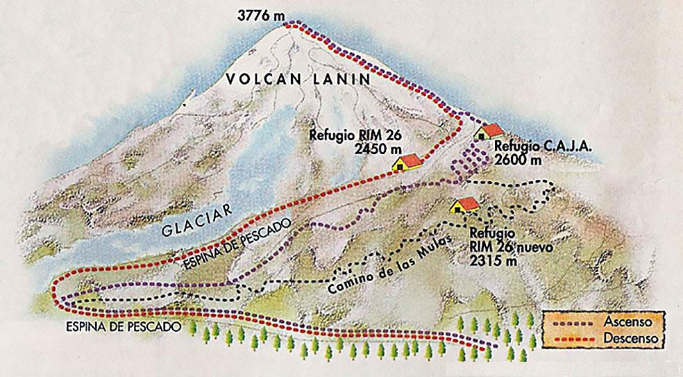 Ascenso Ruta Normal Lanin