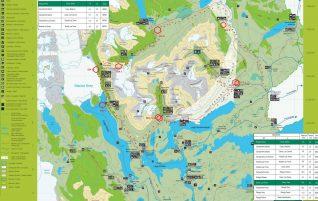 Mapa Completo Parque Nacional Torres del Paine