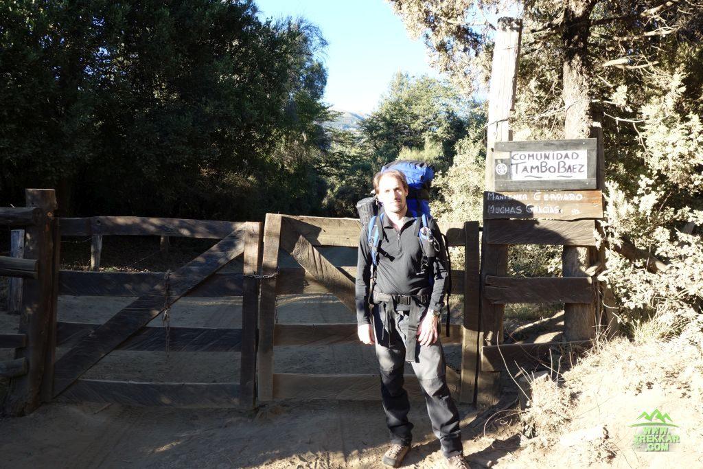 inicio del sendero en Tambo de Baez