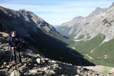 asi se ve el valle del Casalata desde el paso Schweizer