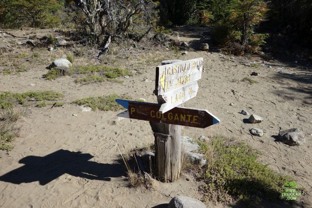 desvíos indicados antes de vadear el arroyo Calvú