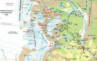 Topographic map El Chaltén