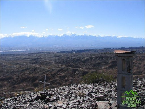 Beautiful view of the mountains from the summit