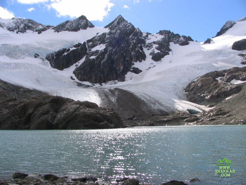 laguna y glaciar