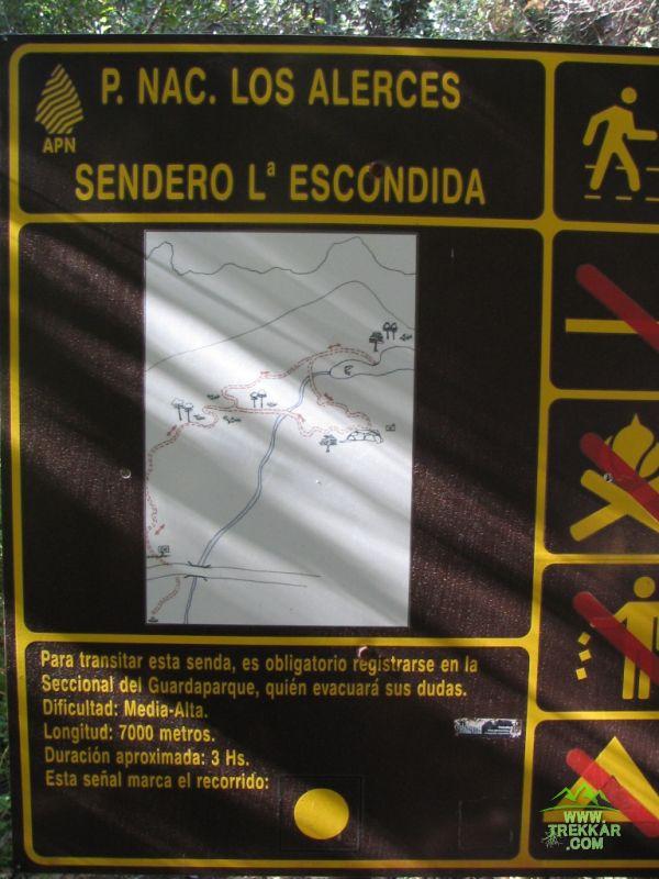 IMG_6892 - cartel indicador en el inicio del sendero a Laguna Escondida