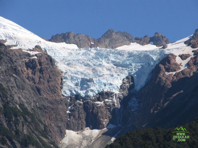 el glaciar de cerca