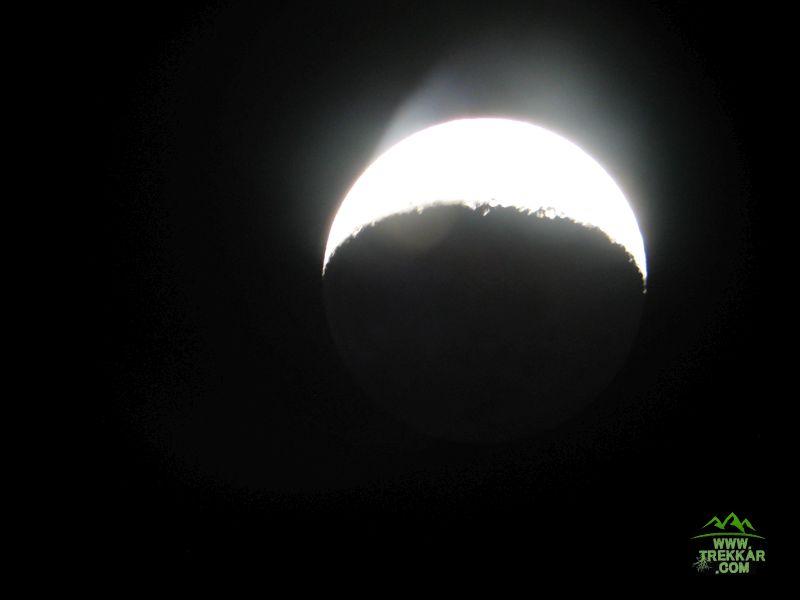 la luna vista desde un telescopio