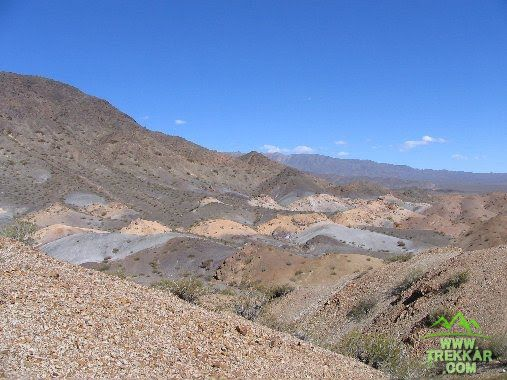 Amazing colorful hills , near the base of Leoncito Hill