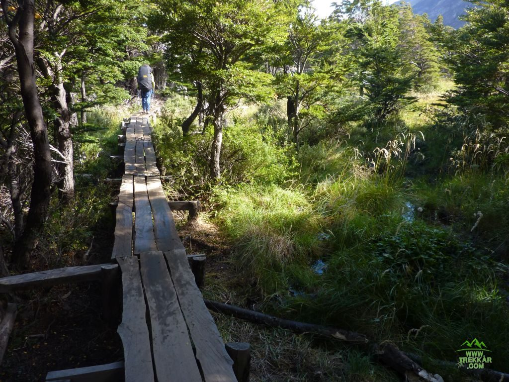 Trail to camp Italiano