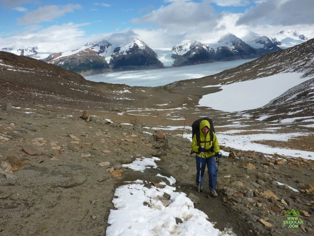 Gardner pass with Grey glacier in the background