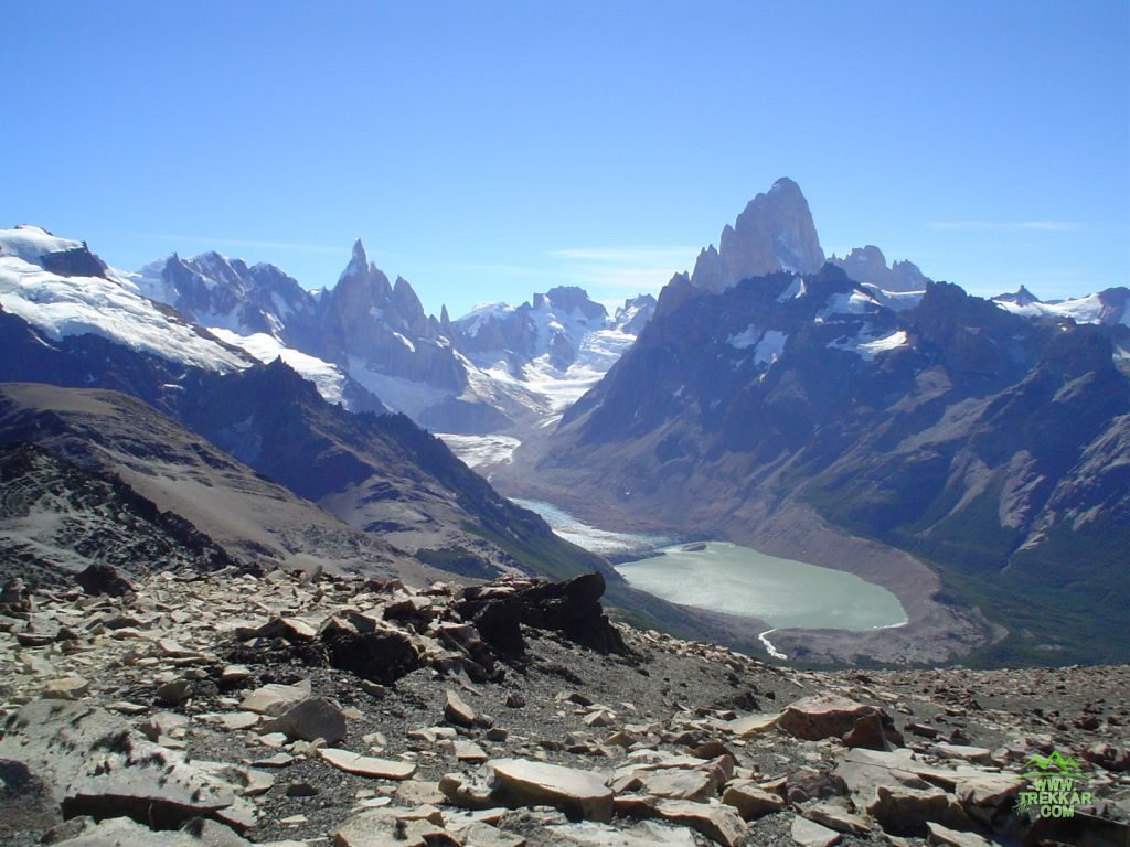 Mounts Torre and Fitz Roy and lake Laguna Torre
