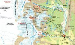 mapa chalten senderos cercanos al pueblo