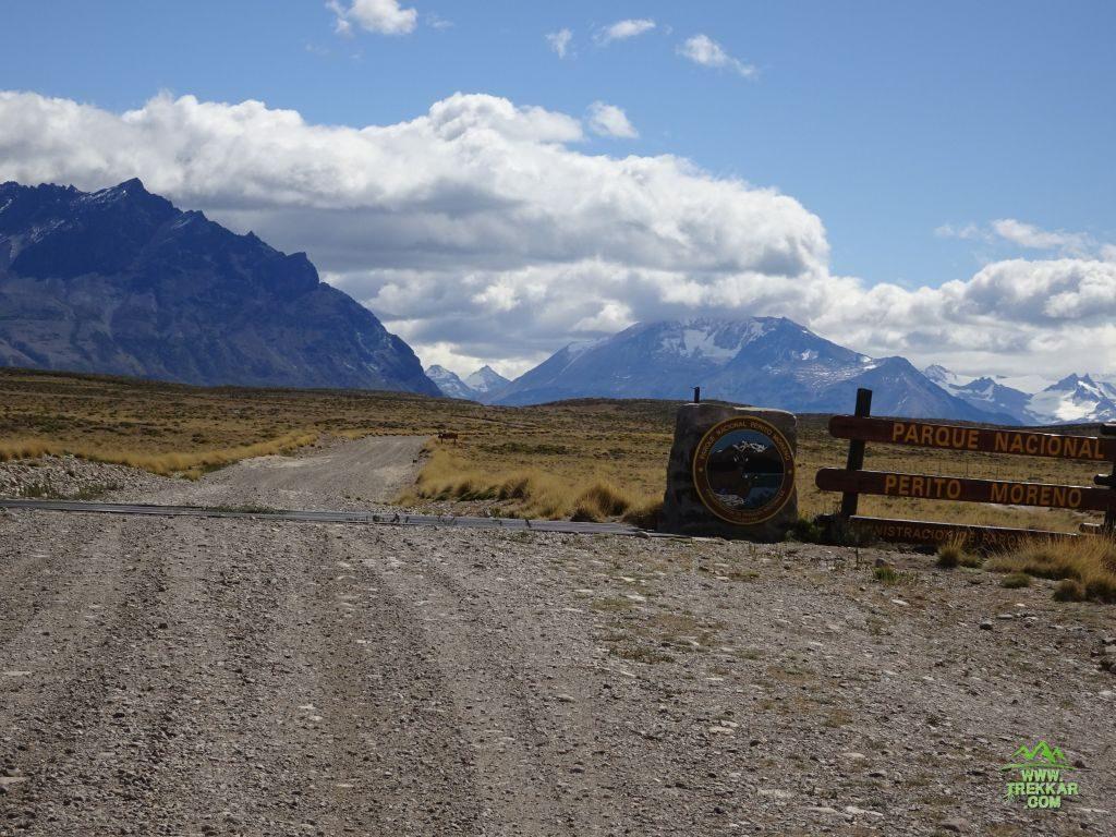 ingreso al PN Perito Moreno