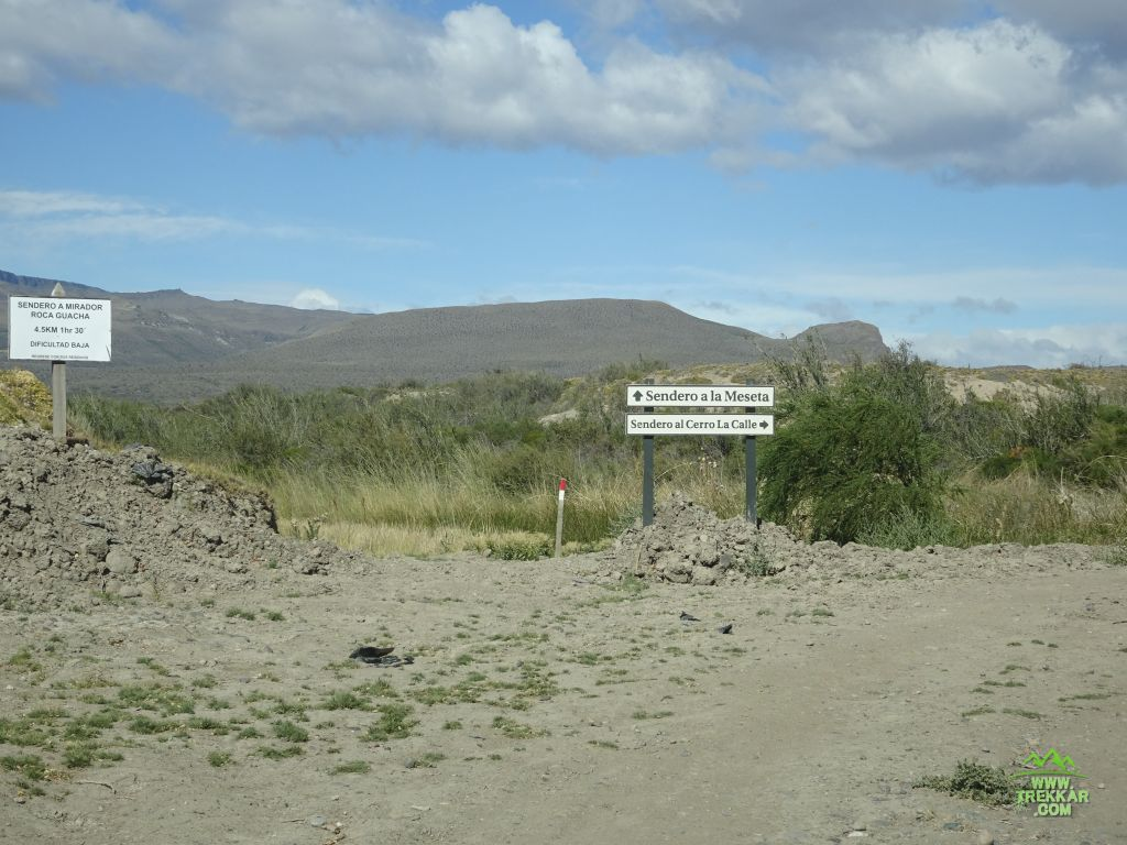 camino hacia puesto Cisne